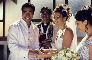 Sione's Wedding - the ceremony
